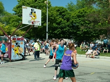 The Gus Macker Weekend on Lakeshore Drive in Ludington